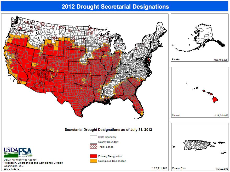Weather IndexMundi Blog - Map natural disasters us