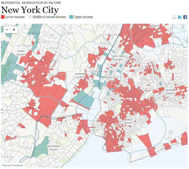 residential segregation by income