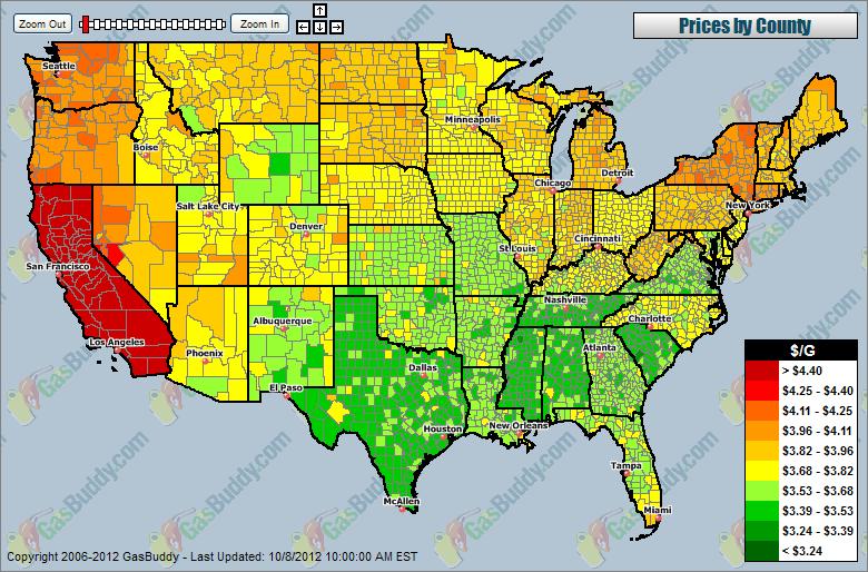 Cheapest Gas In Usa >> California | IndexMundi Blog