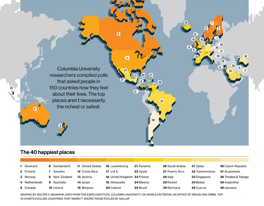 Happy Index Map