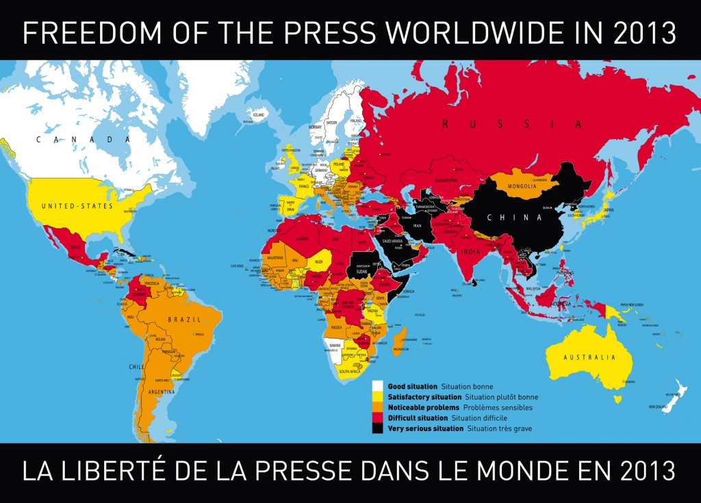 Freedom of the Press Index 2013