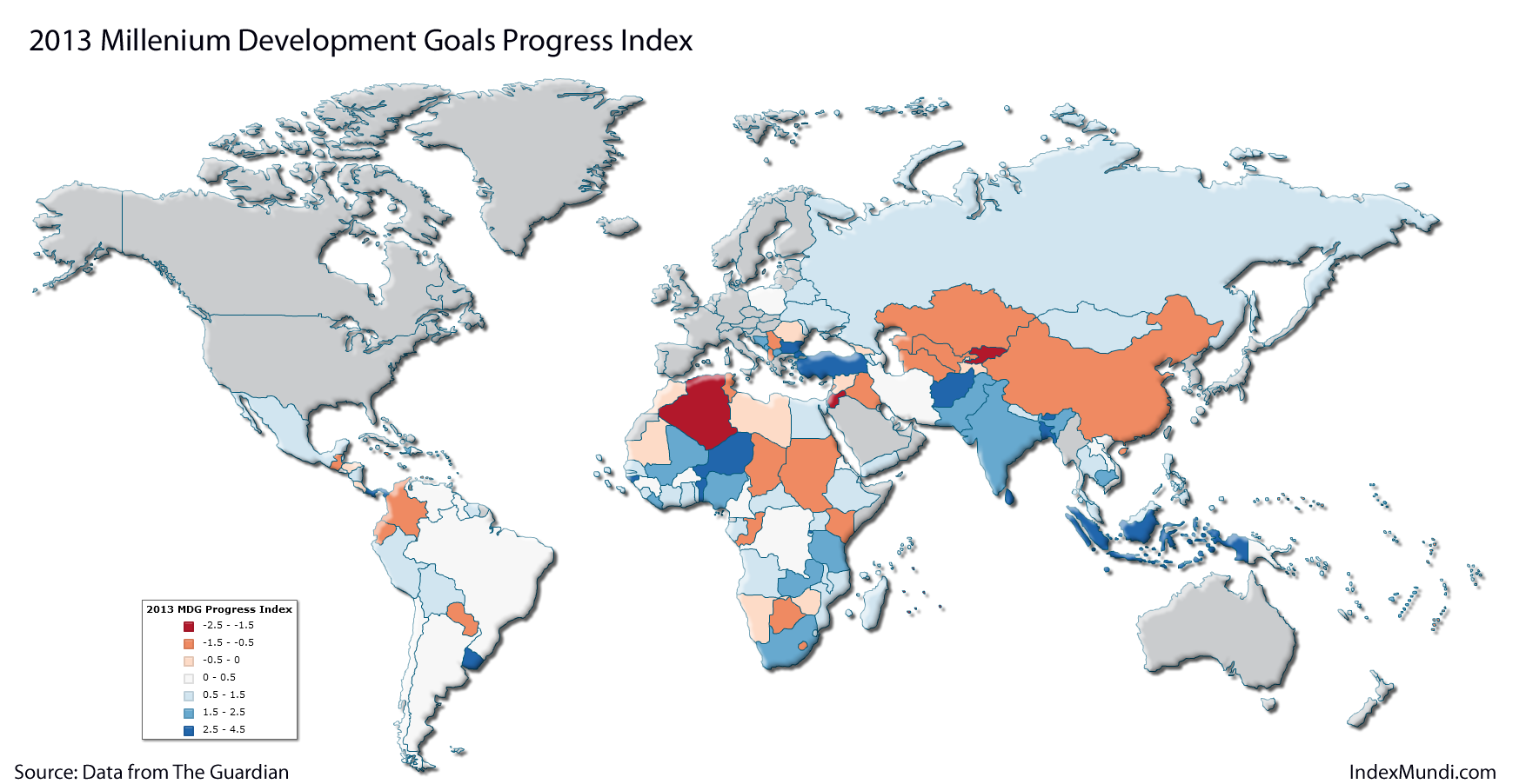 MDG Index 2013 map