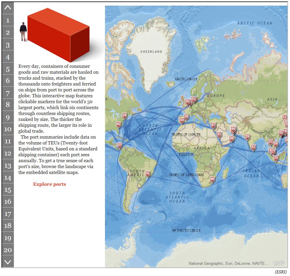 worlds 50 largest ports