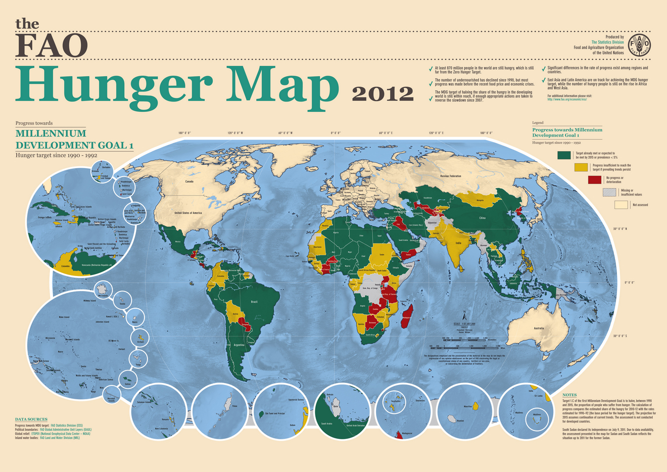 mdg hunger map 2012