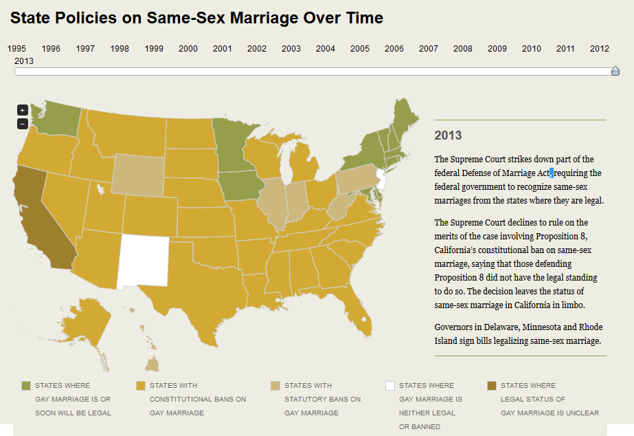 state policies on same sex marriage 2013