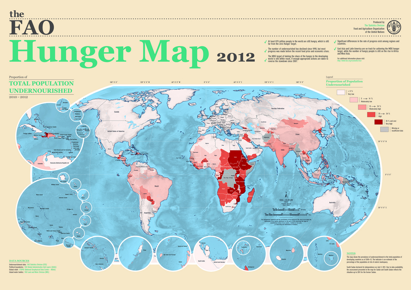 undernourishment hunger map 2012