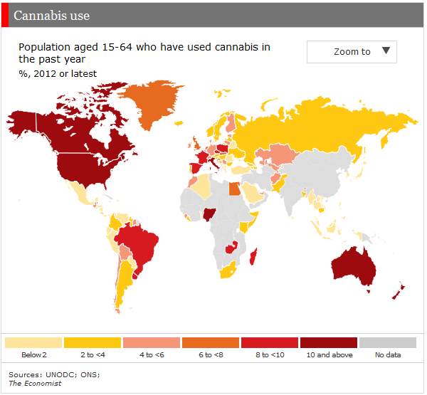 use of cannabis worldwide