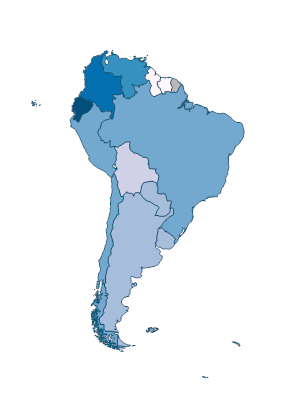 Population Density People Per Sq Km Of Land Area South America - South american population map