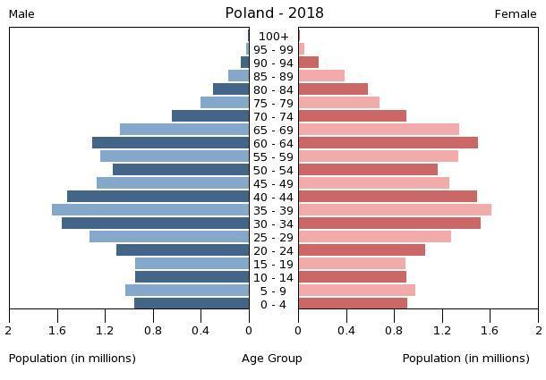 pyramida poland demography